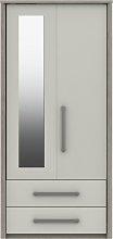 Grasmere 2 Door 2 Drawer Mirror Wardrobe - White