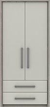 Grasmere 2 Door 2 Drawer Wardrobe - White