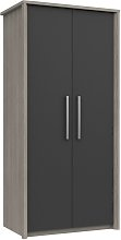 Grasmere 2 Door Wardrobe - Dark Grey