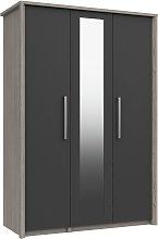 Grasmere 3 Door Mirror Wardrobe - Dark Grey