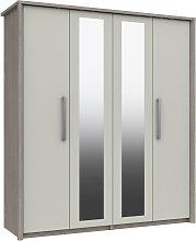 Grasmere 4 Door 2 Mirror Wardrobe - White