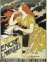 Grasset Marquet Ink Nouveau Vintage Advert Large