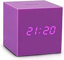 Gravity Cube Click Clock - PURPLE