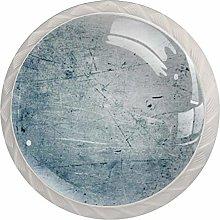 Gray 4 Pieces Crystal Glass Wardrobe Handles