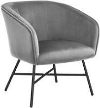 Gray Accent Chair Living Room Armchair Tub Side