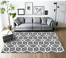 Gray and White Geometric Mosaic Abstract Pattern