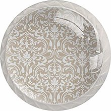 Gray Baroque Style Cabinet knob Drawer Pull Handle
