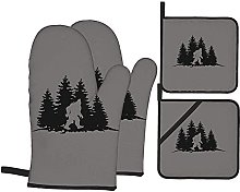 Gray Bigfoot in The Woods Printed Resistant Hot