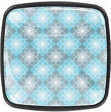 Gray Blue 4pcs Glass Cupboard Wardrobe Cabinet