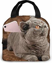 Gray Cat Gray Cat Divert Attention Lunch Bag Tote