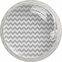 Gray Chevron Zigzag Drawer Knobs Pulls Cabinet