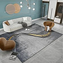 Gray curve Fluffy Rug for the Bedroom, Living Room