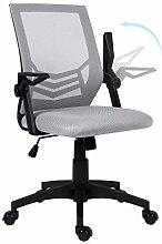 Gray Desk Chair Office Chair with Flip