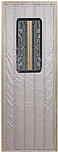 Gray Door Curtain for Indoor Thermal Protection