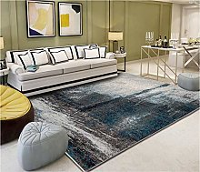 Gray Fireplace Rug Abstract colorful ink art