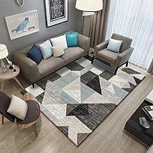 Gray geometric triangle Area carpet living room