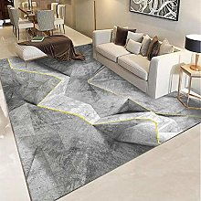 Gray illusion pattern Fluffy Rug for the Bedroom,