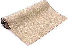 Gray Khaki Rustic Imitation Linen Table Runner