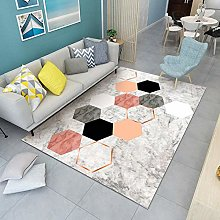 Gray marble color block Area Rug Non Skid Rug,Soft