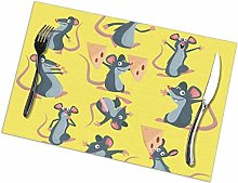 Gray Mouse Happy Cute Rats Stole Cheese Character