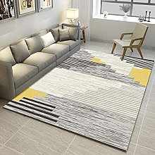 Gray Rug Abstract style stable soundproof salon