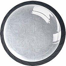 Gray Set of 4 Vintage Color Multi Designed