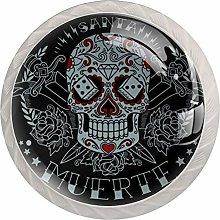 Gray Skull White Drawer Handles Furniture Glass