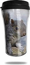 Gray Squirrel Rodent Timber Travel Coffee Mug 3D