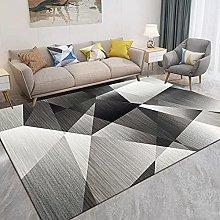 Gray triangle geometry Area Rug Non Skid Rug,Soft
