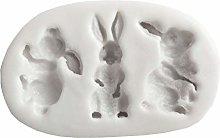 Grbewbonx 3-Cavity 3D Cute Animal Rabbit Bunny