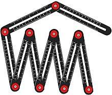 Grbewbonx Multi Angle Measuring Ruler, Aluminum