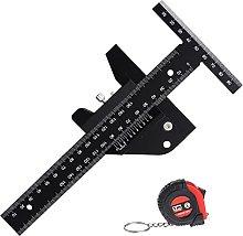 Grbewbonx T-Type Woodworking Ruler, Aluminum Alloy