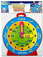 Great Gift ! Clever Kids Teaching Time Clock Toy