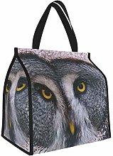 Great Gray Owl Owl Head Birds Predators Lunch Tote