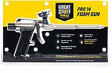 Great Stuff 99046685 Pro 14 Foam Dispensing Gun Pro 14 Dispensing Foam Gun, Silver