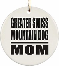 Greater Swiss Mountain Dog Mom - Circle Ornament