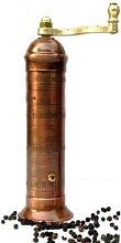 Greek Antiqued-Copper Pepper Mill with Handle,