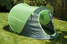 Green 2 Man Person Pop Up Tent Camping Hiking