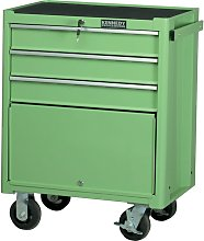 Green 3-Drawer Professional Roller Cabinet -