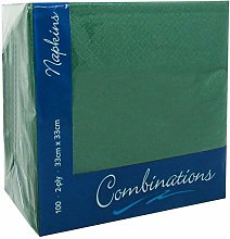 Green 33cm 2ply Napkins - Pack of 100