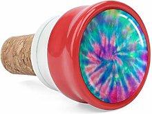 Green 70S Swirl Spiral Pattern Tie Dye Pink Wine