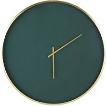 Green and Golden Metal Clock D86