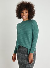 Green Asymmetric Hem Jumper - 8