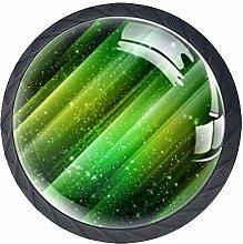 Green Aurora Crystal Drawer Handles Furniture