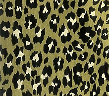 Green & Black Leopard Animal Fur Print Panther
