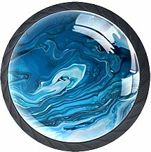 Green Blue Marble Texture Cabinet Dresser Drawer