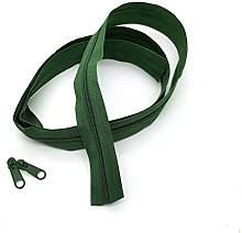 Green Bottle Continuous Zip & Sliders No. 5