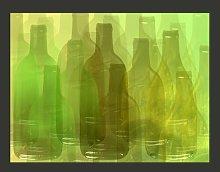 Green Bottles 2.31m x 300cm Wallpaper East Urban