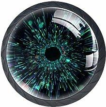 Green Brilliant Light Crystal Drawer Handles
