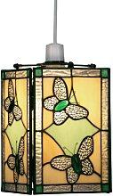 Green Butterfly Tiffany Pendant Shade